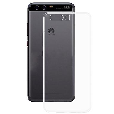 Için Ultra İnce Şeffaf Pouzdro Arka Kılıf Pouzdro Solid Renkli Yumuşak TPU için Huawei Huawei P10