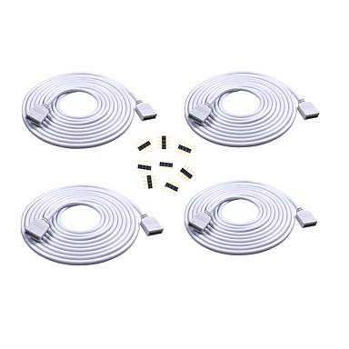 Cablu prelungitor de 4 m lungime de 4 m conectați conector mamă pentru rgb 3528 5050 bandă cu conectori 4 pini de 8 pini masculi
