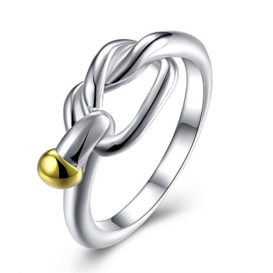 Pentru femei Adorabil Articole de ceramică / Argilă Inel - Geometric Shape Personalizat / Γεωμετρικά / Design Unic Argintiu Inel Pentru