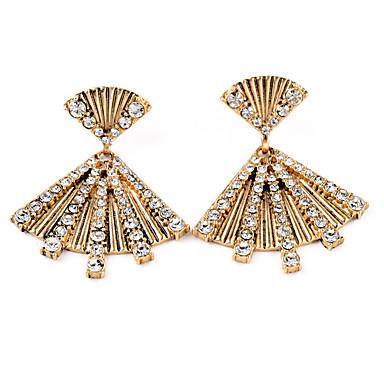 Vidali Küpeler Kristal Moda Kişiselleştirilmiş Geometric Shape Altın Mücevher Için Düğün Parti Doğumgünü 1 çift