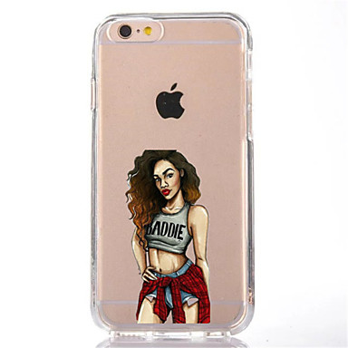 Für iphone 7 reizvolle Dame tpu weiche ultradünne rückseitige Abdeckungsfallabdeckung für Apfel iphone 7 plus 6s 6 plus se 5s 5 5c 4s 4