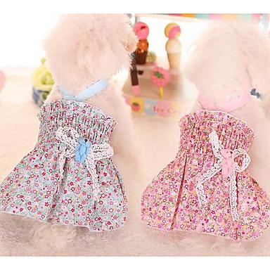 كلب الفساتين ملابس الكلاب جميل موضة أميرة أزرق زهري