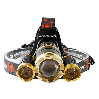 Hoofdlampen Koplamp LED 4800 lumens lm 4.0 Modus Cree T6 Zoombare Verstelbare focus Schokbestendig Oplaadbaar Waterbestendig Slagring