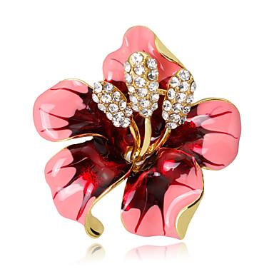 Dames Broches Bloemen Bloemenstijl Kristal Legering Bloem Sieraden Voor Bruiloft Feest Speciale gelegenheden Dagelijks