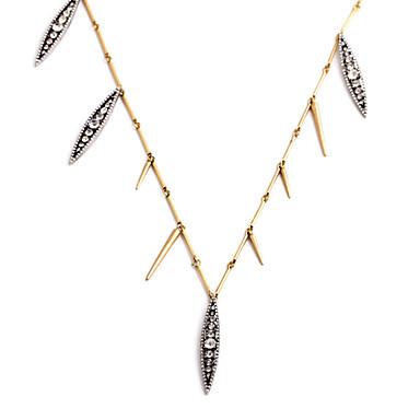 Damskie Łańcuszki na szyję Leaf Shape Postarzane White Biżuteria Na 1szt