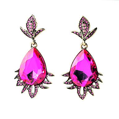 Kolczyki koła Kryształ Modny Osobiste Kropla Hot Pink Biżuteria Na Ślub Impreza Urodziny 1 para