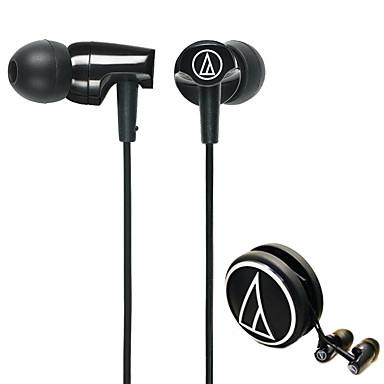 Audio-technica ath-clr100 bk mobiele oortelefoon voor computer in-ear beklede plastic 3,5 mm geluidsonderdrukking