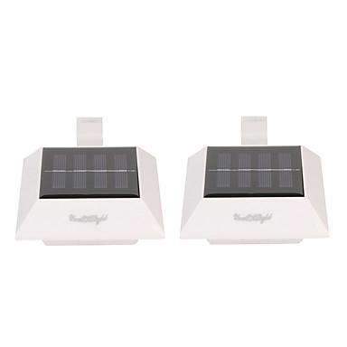 2 stuks LED-lampen op zonne-energie Koud wit Op zonne-energie Oplaadbaar