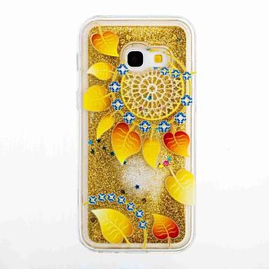 Pouzdro Uyumluluk Samsung Galaxy A5(2017) A3(2017) Akan Sıvı Temalı Arka Kapak Çiçek Yumuşak TPU için A3 (2017) A5 (2017) A5(2016)