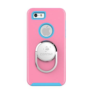 Cornmi voor iphone 7 plus iphone 7 iphone case cover schokbestendig met standaard ringhouder achterkant hoesje vaste kleur harde tpu