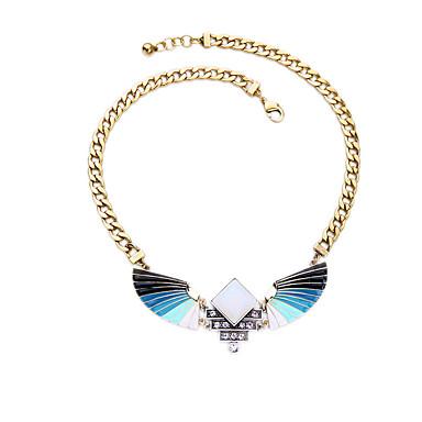 Kadın's Uçlu Kolyeler Kanatlar / Tüy Eşsiz Tasarım Kişiselleştirilmiş Açık Mavi Mücevher Için Günlük 1pc