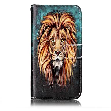 Maska Pentru Huawei P9 Lite Huawei Huawei P8 Lite Titluar Card Portofel Cu Stand Întoarce Model Embosat Carcasă Telefon Animal Greu PU