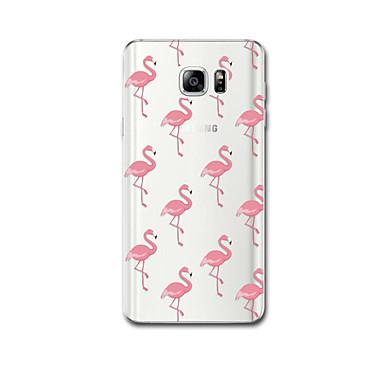 Için Kılıflar Kapaklar Ultra İnce Temalı Arka Kılıf Pouzdro Flamingo Yumuşak TPU için Samsung Note 5 Note 4 Note 3
