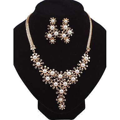 Damen Schmuckset Ohrstecker Halskette Modisch Euramerican Perle Aleación Blumenform Für Hochzeit Party Besondere Anlässe Geburtstag