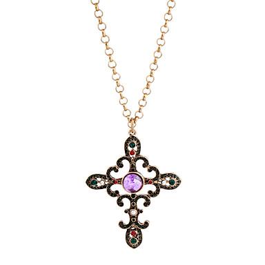 Pentru femei Coliere cu Pandativ Cristal La modă Personalizat Euramerican Englezesc Bronz Bijuterii Pentru Nuntă Petrecere 1 buc
