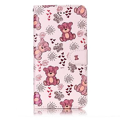 Hülle Für Apple iPhone 7 Plus iPhone 7 Kreditkartenfächer Geldbeutel mit Halterung Flipbare Hülle Muster Geprägt Ganzkörper-Gehäuse