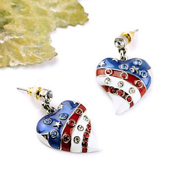 Damskie Kolczyki koła Kryształ Osobiste Słodkie Style euroamerykańskiej Biżuteria Na Ślub Impreza Urodziny