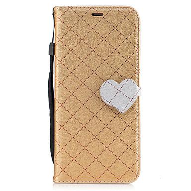 Pouzdro Uyumluluk Samsung Galaxy S8 Plus S8 Kart Tutucu Cüzdan Satandlı Flip Manyetik Temalı Tam Kaplama Kılıf Tek Renk Kalp Geometrik