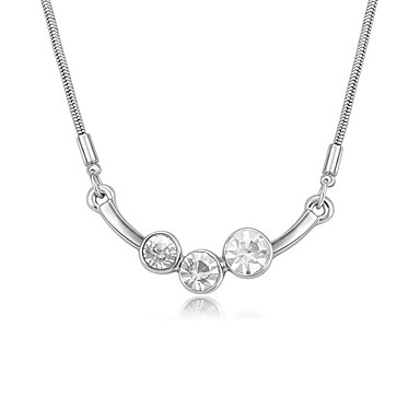 Kadın's Uçlu Kolyeler Kristal Çok güzel Kişiselleştirilmiş Euramerican Beyaz Kırmzı Açık Mavi Mücevher Için Düğün Parti 1pc