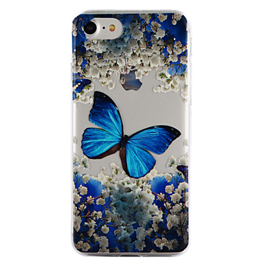 Voor apple iphone 7 7 plus 6s 6 plus 5s 5 case cover vlinder patroon druppel lijmverf hoogwaardig tpu materiaal telefoon hoesje