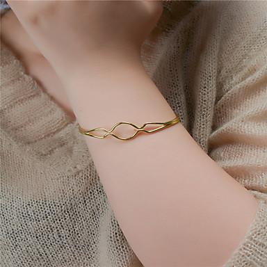 Kadın's Halhallar Mücevher Moda Bakır Geometric Shape Altın Gümüş Mücevher Için Parti Özel Anlar 1pc