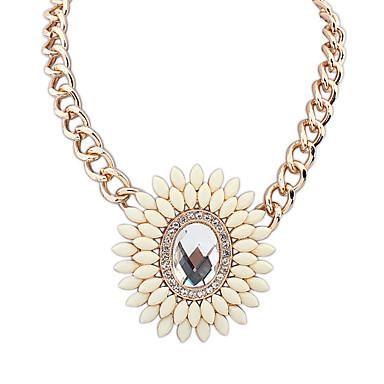 Kadın's Uçlu Kolyeler Mücevher Mücevher Değerli Taş alaşım Moda Euramerican Mücevher Uyumluluk Parti Özel Anlar