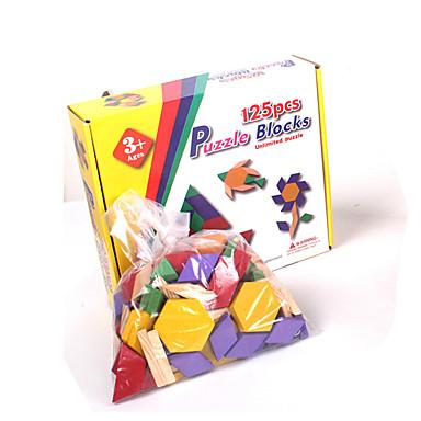 Tangram Klocki Puzzle Drewniane puzzle Zabawki Kwadrat Trojůhelníkové Dla dzieci 1 Sztuk