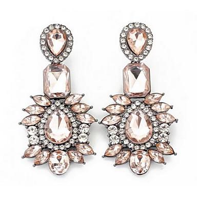 Kadın's Damla Küpeler Çoklu Taşlar imitasyon Pırlanta Sallantılı Stil Moda Euramerican Çiçekli Zirkon Değerli Taş Mücevher UyumlulukDüğün