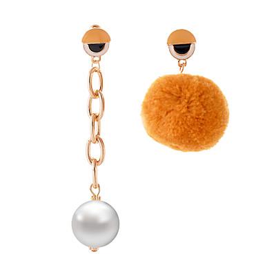 Damen Tropfen-Ohrringe Schmuck Kreisförmiges Einzigartiges Design Anhänger Böhmische nette Art Handgemacht Nicht übereinstimmen