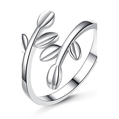 Damskie Pierscionek Unikalny Powłoka platynowa Leaf Shape Biżuteria Ślub Impreza Specjalne okazje