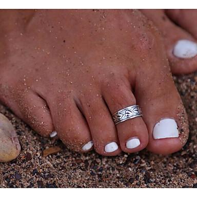Kadın Vücut Mücevheri Ayak Parmağı Yüzüğü Eski Tip alaşım Mücevher Için Günlük 1pc