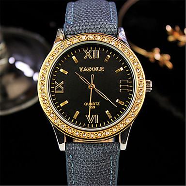 Dames Modieus horloge Kwarts Stof Band Zwart Blauw Rood Geel