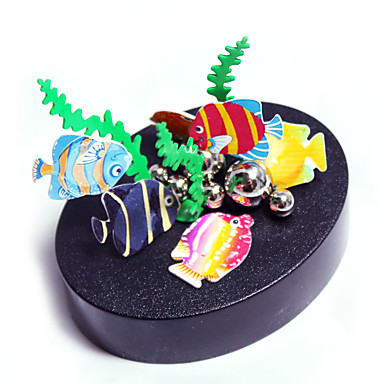 1 pcs Παιχνίδια μαγνήτες Μοντέλα απεικόνισης / Τουβλάκια / Μεταλλικά παζλ Δημιουργικό / Μαγνητική / Φτιάξτο Μόνος Σου Ψάρια Ενηλίκων Δώρο
