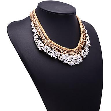 Kadın's Tellerinin Kolye Mücevher Mücevher Değerli Taş alaşım Moda Bohemia Stili Euramerican Altın Gümüş Mücevher Için Parti Özel Anlar