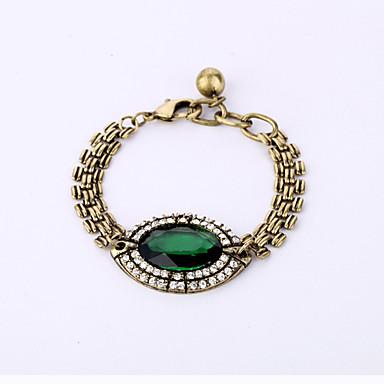 Γυναικεία Βραχιόλια με Αλυσίδα & Κούμπωμα Κοσμήματα Μοντέρνα Κράμα Oval Shape Πράσινο Κοσμήματα ΓιαΕιδική Περίσταση Γενέθλια