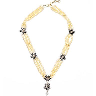 Pentru femei Toroane Coliere Cristal Design Unic La modă Personalizat Euramerican Negru Bijuterii Pentru Nuntă Petrecere 1 buc