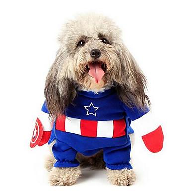 Câine Costume Îmbrăcăminte Câini Draguț Casul/Zilnic Modă Solid Albastru Închis
