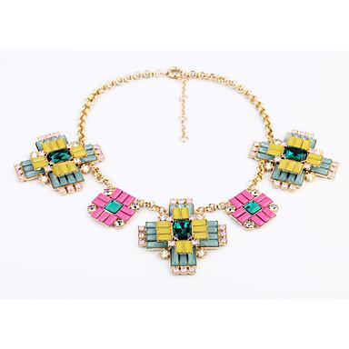 Damskie Oświadczenie Naszyjniki Cross Shape Osobiste Słodkie Style Rainbow Biżuteria Na 1szt