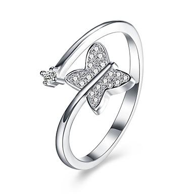 Damen Ring Kubikzirkonia Personalisiert Luxus Geometrisch Einzigartiges Design Klassisch Retro Böhmische Grundlegend Herz Freundschaft