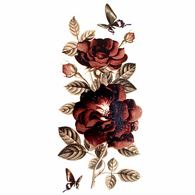 Patroon / Onderrrug / Waterproof Tijdelijke tatoeages Bloemen Series handen / arm / pols 1 pcs