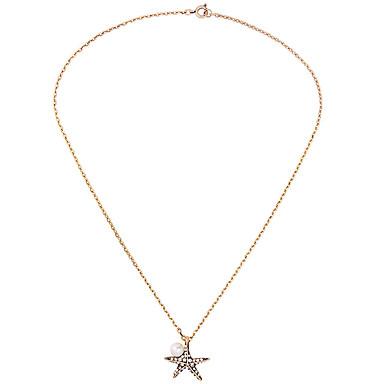 Damskie Naszyjniki z wisiorkami Star Shape Unikalny Modny Gold/Silver Biżuteria Na Urodziny Codzienny 1szt