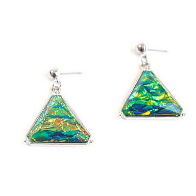 Kolczyki wiszące Multi-kamień sztuczna Sapphire Wiszący Kamień szlachetny Depression Green Biżuteria NaŚlub Impreza Specjalne okazje