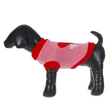 Pies Swetry Ubrania dla psów Codzienne Modny Rysunek Czerwony