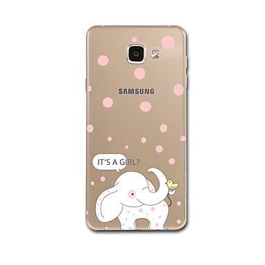 Maska Pentru Samsung Galaxy A7(2017) A5(2017) Ultra subțire Model Carcasă Spate Elefant Moale TPU pentru A5 (2017) A7 (2017) A7(2016)