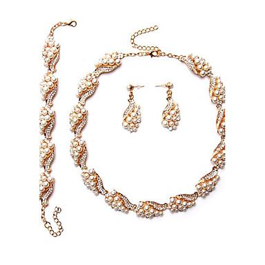 Damen Braut-Schmuck-Sets Imitierte Perlen Euramerican Hochzeit Party Besondere Anlässe Alltag Perle Geometrische Form 1 Halskette 1 Paar