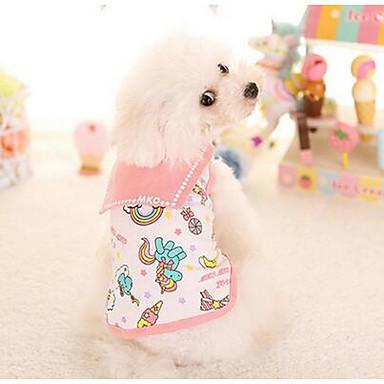 Hond Jurken Hondenkleding Casual/Dagelijks Modieus Geruit Oranje Roze Kostuum Voor huisdieren