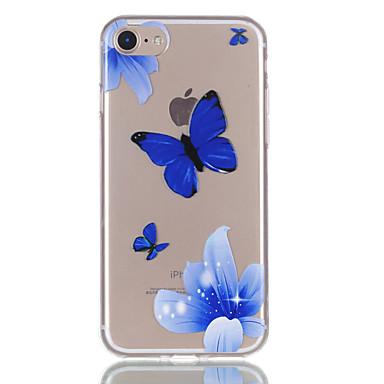 Pentru iphone 7 7plus 6s 6plus 5s 5 flori fluture model de relief vopsea tpu material nu se estompeze cazul telefon