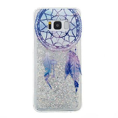 Maska Pentru Samsung Galaxy S8 Plus S8 Scurgere Lichid Transparent Model Carcasă Spate Transparent Prinzător de vise Luciu Strălucire