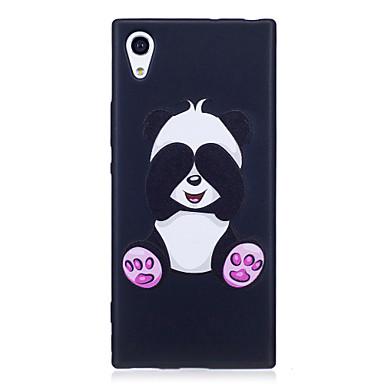 Sony xperia xa1 xz hoesje hoesje panda patroon geverfd reliëf gevoel tpu soft case telefoon hoesje