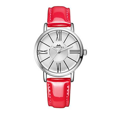 Dames Modieus horloge Kwarts PU Band Wit Blauw Rood